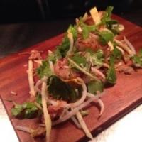 Szechuan spiced Scallops with a crispy Asian coconut & apple salad
